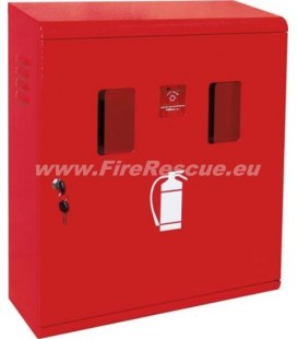 FIRE EXTINGUISHER SMART CABINET FOR TWO 4-6 KG/L WITH KEY